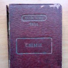 Libros antiguos: AGENDA DUNDOT. CHIMIE (QUÍMICA).1934. . Lote 183462698