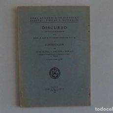 Libros antiguos: LIBRERIA GHOTICA. DISCURSO POR LUIS M. UNAMUNO IRIGOYEN.1942.ACADEMIA DE CIENCIAS,FÍSICAS Y EXACTAS.. Lote 183599142