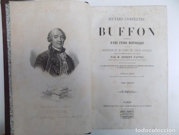 Libros antiguos: LIBRERIA GHOTICA. EXCEPCIONAL OBRA FRANCESA DE BUFFON.1852. OBRA COMPLETA 9 VOLUMENES FOLIO.GRABADOS - Foto 5 - 183743393