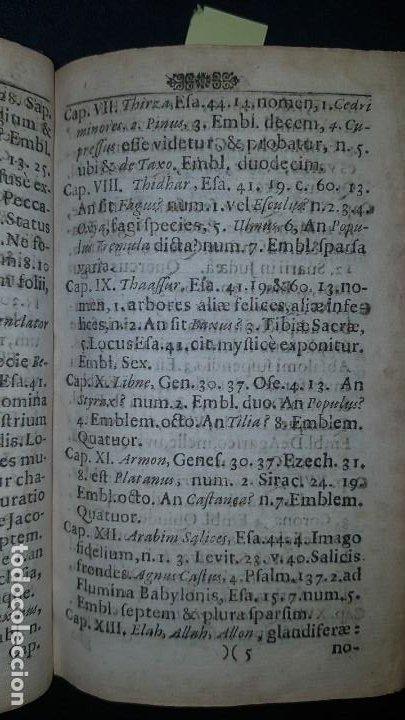 Libros antiguos: BOTÁNICA EN LA BIBLIA - Arboretum Biblicum, In quo Arbores & fructices - Foto 15 - 183862835