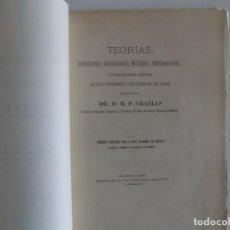 Libros antiguos: LIBRERIA GHOTICA. GRAELLS. TEORIAS,SUPOSICIONES,DISCORDANCIAS,MISTERIOS,COMPROBACIONES.1887.. Lote 183871757
