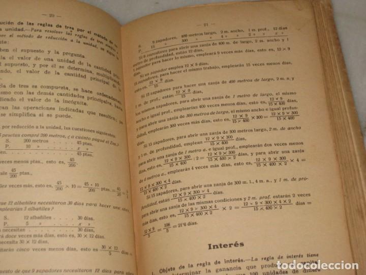 Libros antiguos: Lecciones de Aritmetica. D. Jose Dalmau Carles. Libro del alumno. 1928 - Foto 6 - 184243586