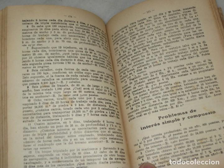 Libros antiguos: Lecciones de Aritmetica. D. Jose Dalmau Carles. Libro del alumno. 1928 - Foto 9 - 184243586