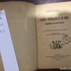 Libros antiguos: PROYECTO DE LA FIJACIÓN DE LAS DUNAS GOLFO DE ROSAS JAVIER DE FERRER 1895. Lote 184617687