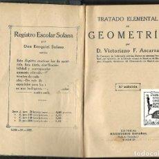 Libros antiguos: TRATADO ELEMENTAL DE GEOMETRIA,1925. Lote 185724680