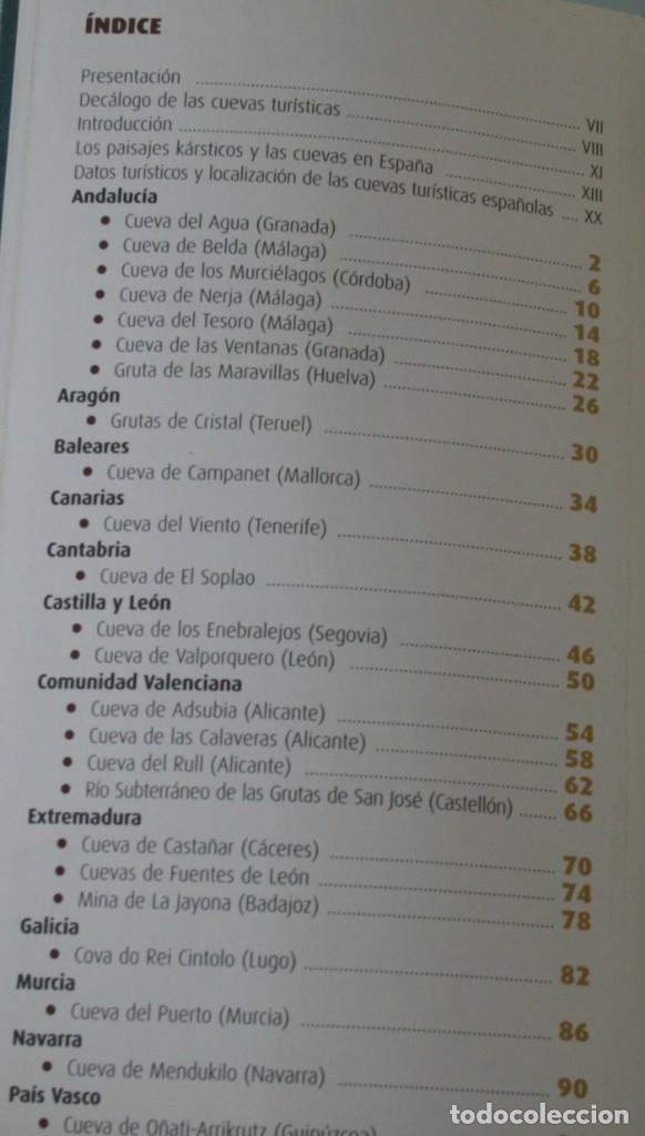 Libros antiguos: GUIA CUEVAS TURISTICAS DE ESPAÑA Y ENTORNOS NATURALES.. – INSTITUTO GEOLOGICO Y MINERO - A ESTRENAR - Foto 2 - 185911555