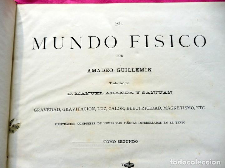 Libros antiguos: MUNDO FÍSICO POR AMADEO GUILLEMIN - 1883 - TOMO SEGUNDO - Foto 9 - 186298933
