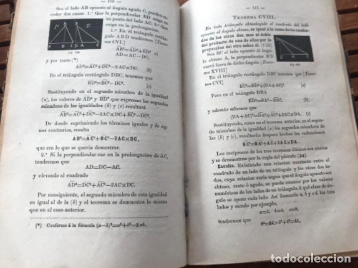 Libros antiguos: Elementos de Matemáticas por Vicente Rubio y Diaz. Tomo 2 Geometría y trigonometría 1884 - Foto 5 - 186396750