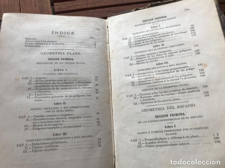 Libros antiguos: Elementos de Matemáticas por Vicente Rubio y Diaz. Tomo 2 Geometría y trigonometría 1884 - Foto 6 - 186396750