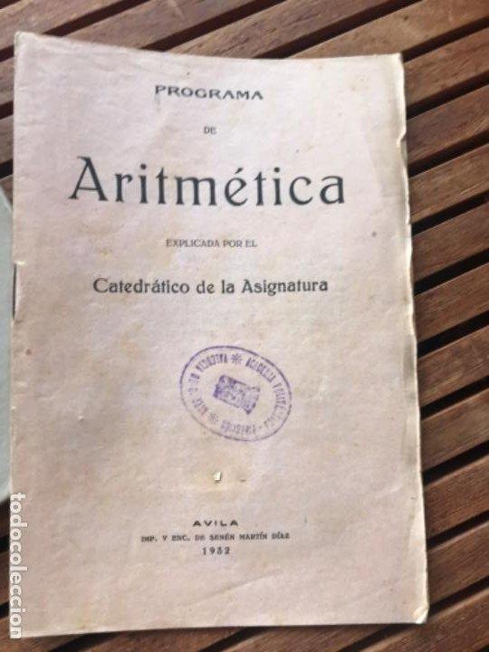 Libros antiguos: Matemáticas II Aritmética.H Miranda y tuya y A del Pueyo y García. A vila 1932 - Foto 5 - 186400275