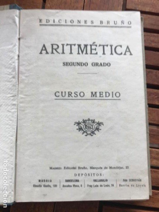 Libros antiguos: Tratado de Aritmética 2º grado. Ed Bruño 1942 - Foto 4 - 186403028