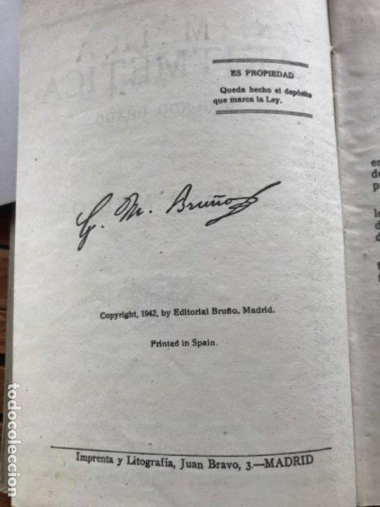 Libros antiguos: Tratado de Aritmética 2º grado. Ed Bruño 1942 - Foto 5 - 186403028