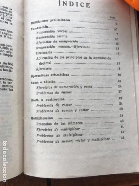 Libros antiguos: Tratado de Aritmética 2º grado. Ed Bruño 1942 - Foto 7 - 186403028