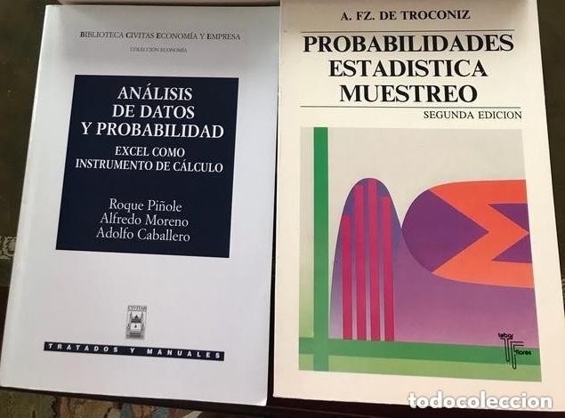 2 LIBROS DE ESTADÍSTICA (Libros Antiguos, Raros y Curiosos - Ciencias, Manuales y Oficios - Física, Química y Matemáticas)