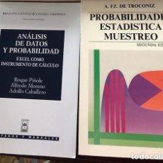 Libros antiguos: 2 LIBROS DE ESTADÍSTICA. Lote 150060818