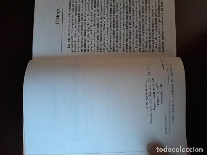 Libros antiguos: Problemas de química general 1976, Ibarz - Foto 2 - 189781991