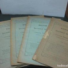 Libros antiguos: 10 PRIMEROS NUMEROS DEL BOLETIN DE LA SOCIEDAD IBERICA DE CIENCIAS NATURALES. AÑO 1925 COMPLETO.. Lote 189818422