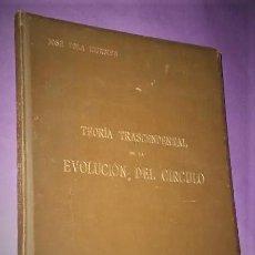 Libros antiguos: TEORÍA TRASCENDENTAL DE LA EVOLUCIÓN DEL CÍRCULO. (1899). Lote 189980407