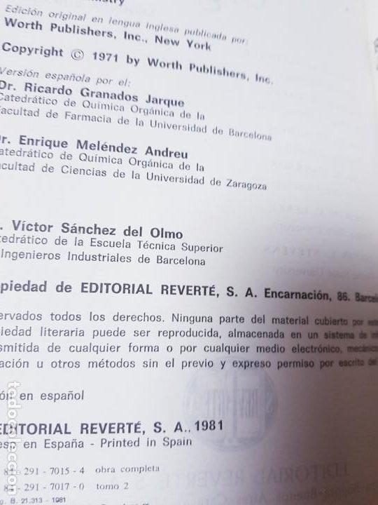 Libros antiguos: LOTE 2 LIBROS-QUÍMICA ORGÁNICA I+II-2ªEDICIÓN-ED.REVERTÉ S.A.-ALLINGER/CAVA/JOHNSON - Foto 15 - 190561527