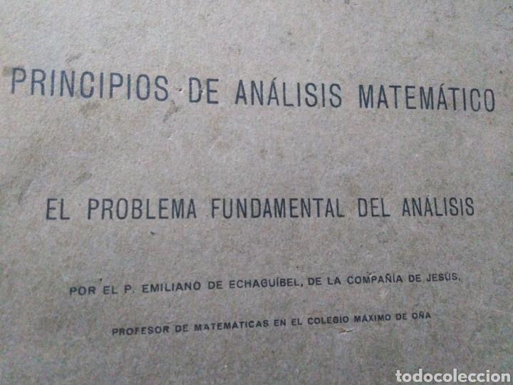 Libros antiguos: Principios del análisis matemático ( 1922 ) - Foto 2 - 190639537