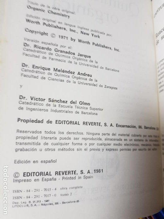 Libros antiguos: LOTE 2 LIBROS-QUÍMICA ORGÁNICA I+II-2ªEDICIÓN-ED.REVERTÉ S.A.-ALLINGER/CAVA/JOHNSON - Foto 16 - 190561527