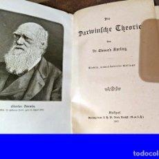 Libros antiguos: AÑO 1905: LA TEORÍA DE DARWIN, POR EDWARD AVELING. ILUSTRADO.. Lote 190815381
