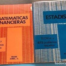 Libros antiguos: 2 LIBROS DE ESTADÍSTICA Y MATEMÁTICA FINANCIERA. Lote 177204157