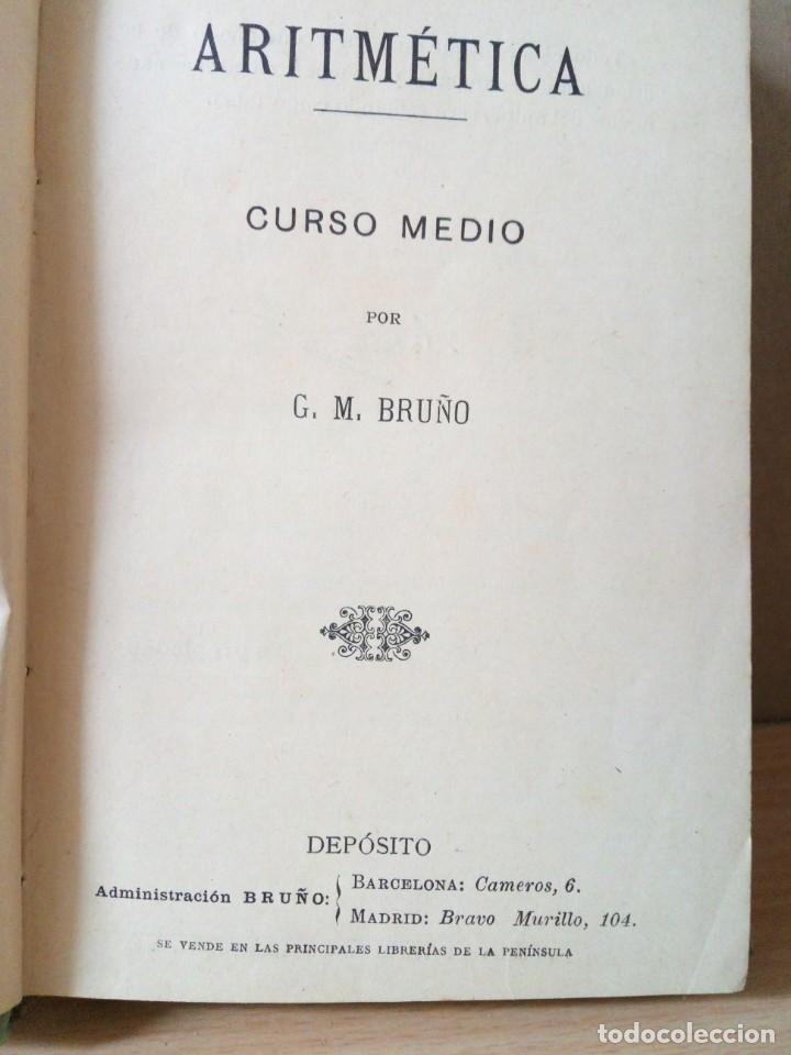 ARITMETICA-CURSO MEDIO DE G.M.BRUÑO 1908 (Libros Antiguos, Raros y Curiosos - Ciencias, Manuales y Oficios - Física, Química y Matemáticas)