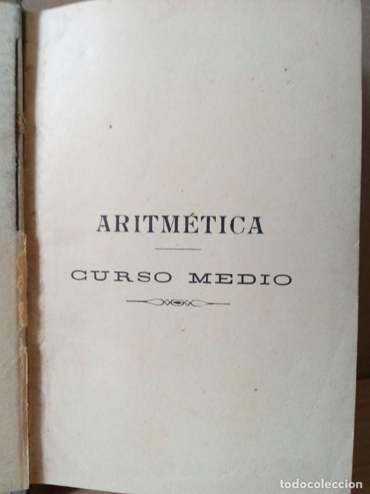 Libros antiguos: ARITMETICA-CURSO MEDIO DE G.M.BRUÑO 1908 - Foto 3 - 191592028