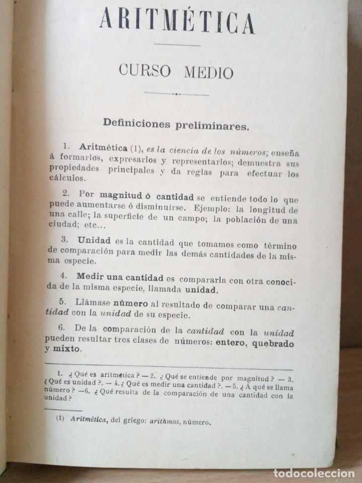 Libros antiguos: ARITMETICA-CURSO MEDIO DE G.M.BRUÑO 1908 - Foto 4 - 191592028