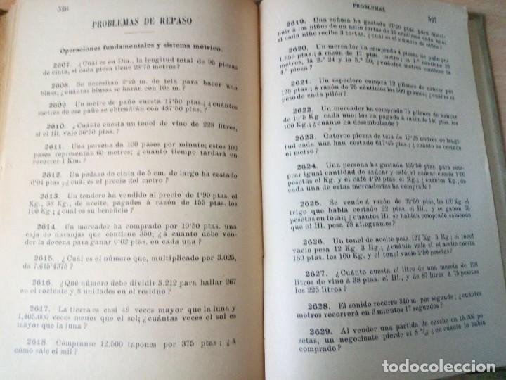 Libros antiguos: ARITMETICA-CURSO MEDIO DE G.M.BRUÑO 1908 - Foto 8 - 191592028