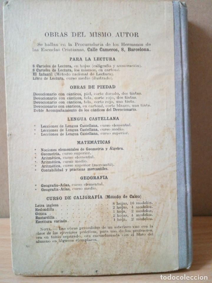 Libros antiguos: ARITMETICA-CURSO MEDIO DE G.M.BRUÑO 1908 - Foto 9 - 191592028