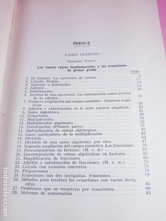 Libros antiguos: LIBRO-ARITMÉTICA Y ALGEBRA-PROF.PAUL CRANTZ-TERCERA EDICIÓN-1932-EXCELENTE-VER FOTOS - Foto 11 - 191598652