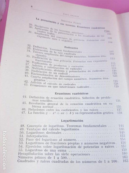 Libros antiguos: LIBRO-ARITMÉTICA Y ALGEBRA-PROF.PAUL CRANTZ-TERCERA EDICIÓN-1932-EXCELENTE-VER FOTOS - Foto 12 - 191598652