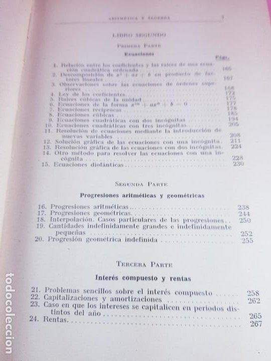 Libros antiguos: LIBRO-ARITMÉTICA Y ALGEBRA-PROF.PAUL CRANTZ-TERCERA EDICIÓN-1932-EXCELENTE-VER FOTOS - Foto 13 - 191598652