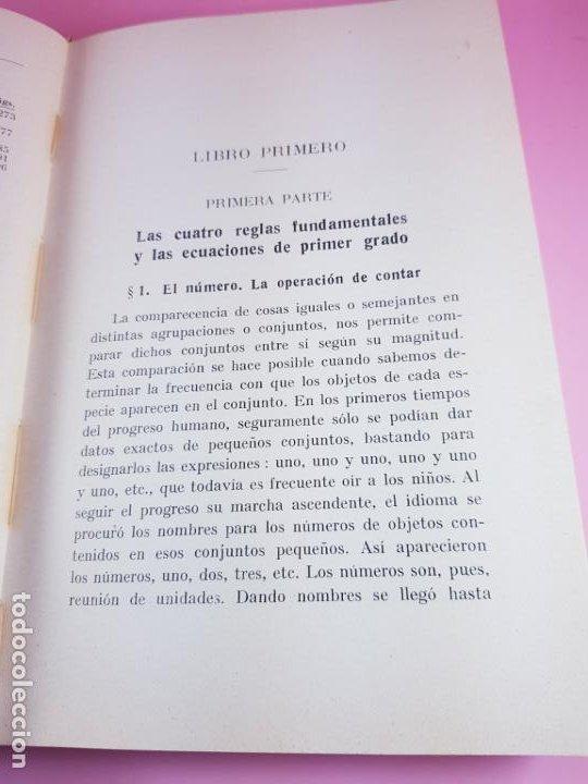 Libros antiguos: LIBRO-ARITMÉTICA Y ALGEBRA-PROF.PAUL CRANTZ-TERCERA EDICIÓN-1932-EXCELENTE-VER FOTOS - Foto 15 - 191598652