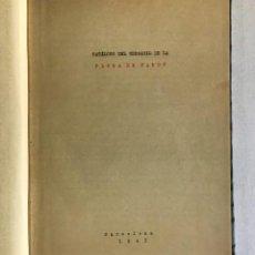 Libros antiguos: CATÁLOGO DEL HERBARIO DE LA FLORA DE CARDÓ. 1943. Lote 191877626