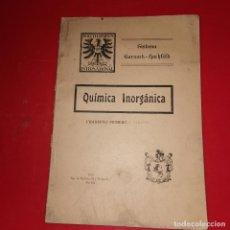 Libros antiguos: QUIMICA INORGANICA POLYTECHNIKUM INTERNATIONAL CUADERNO 1 AÑO 1925. Lote 192325102