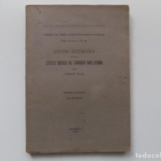 Libros antiguos: LIBRERIA GHOTICA. ENRIQUE RIOJA. ESTUDIO DE LAS ESPECIES IBÉRICAS DEL SUBORDEN SABELLIFORMIA.1923.. Lote 192624032