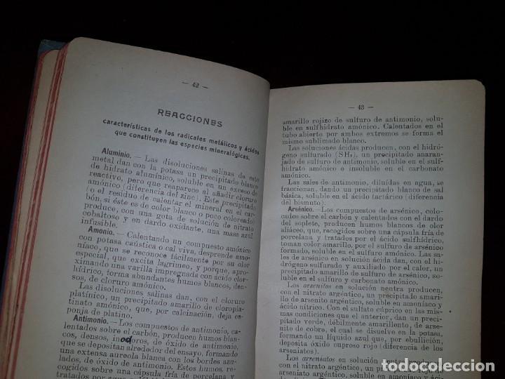 Libros antiguos: Determinación de los minerales - 1919 - Foto 4 - 193192220