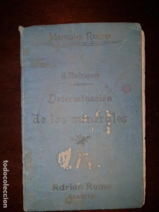DETERMINACIÓN DE LOS MINERALES - 1919 (Libros Antiguos, Raros y Curiosos - Ciencias, Manuales y Oficios - Paleontología y Geología)