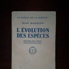 Libros antiguos: L´EVOLUTION DES ESPÊCES - 1932. Lote 193193015