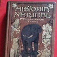 Libros antiguos: HISTORIA NATURAL. TOMOS 17-18. BOTANICA II. K. ZIMMERMANN Y A. PEREZ. GASSO HERMANOS EDITORES. Lote 193421197