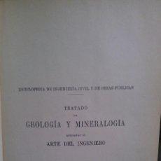Libros antiguos: TRATADO DE GEOLOGÍA Y MINERALOGÍA APLICADAS AL ARTE DEL INGENIERO. - DE LAUNAY, L. Lote 193504257