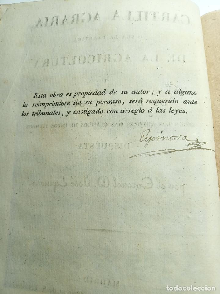 Libros antiguos: Cartilla agraria o sea de la práctica de la agricultura y la ganadería. Coronel D. José Espinosa. 18 - Foto 4 - 193706242