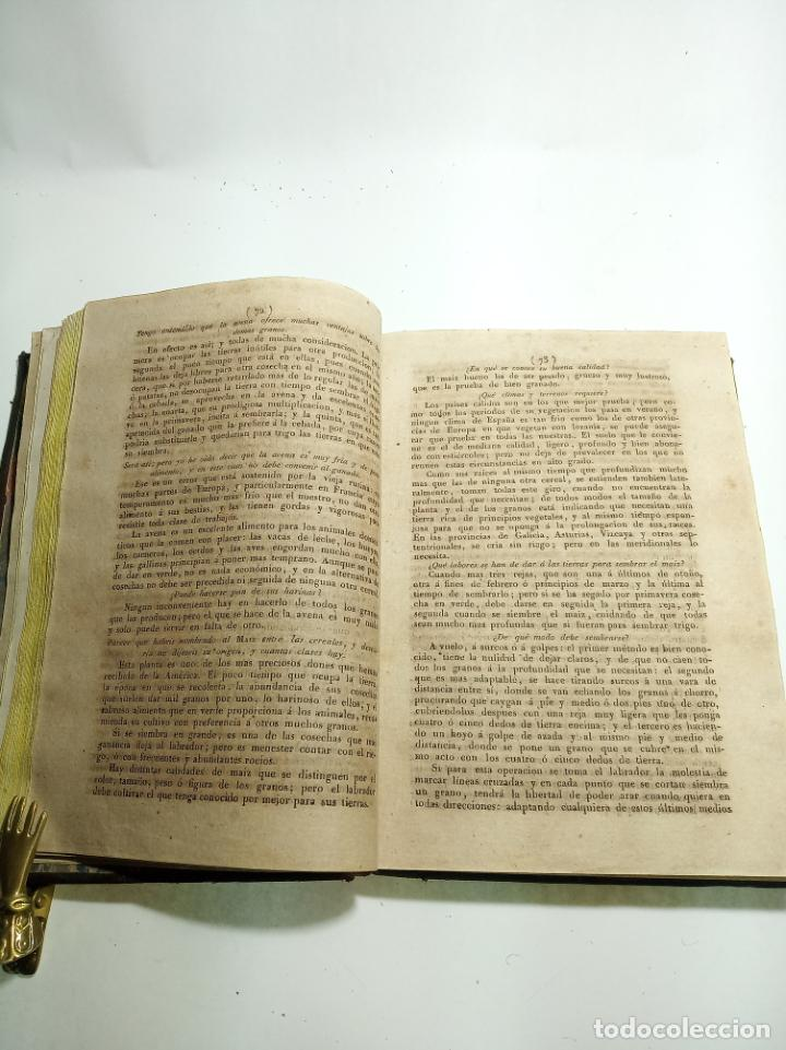Libros antiguos: Cartilla agraria o sea de la práctica de la agricultura y la ganadería. Coronel D. José Espinosa. 18 - Foto 6 - 193706242