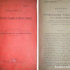 Libros antiguos: CALDERÓN, CAZURRO... MEMORIA SOBRE LAS FORMACIONES VOLCÁNICAS DE LA PROVINCIA DE GERONA... 1907.. Lote 194011733