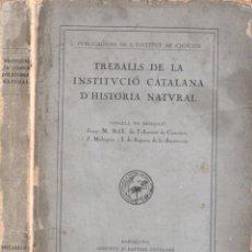 Libros antiguos: TREBALLS DE LA INSTITUCIÓ CATALANA D'HISTÒRIA NATURAL (1915). Lote 194137077