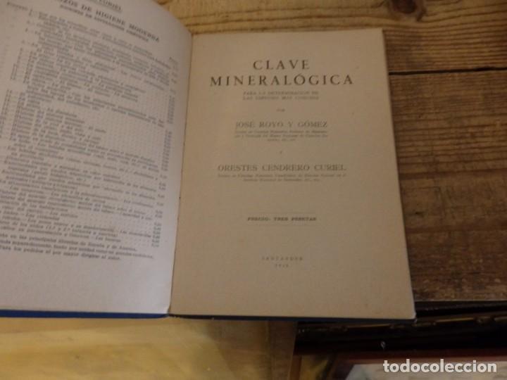 Libros antiguos: CLAVE MINERALOGICA. DRES. ROYO Y CENDRERO. 1928 - Foto 2 - 194266862