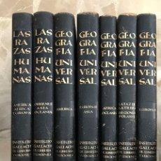 Libros antiguos: LAS RAZAS HUMANAS Y GEOGRAFIA UNIVERSAL INSTITUTO GALLACH. Lote 194512351